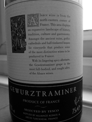 Classic Off-Dry Gewürztraminer perfect for a chinese takeaway.