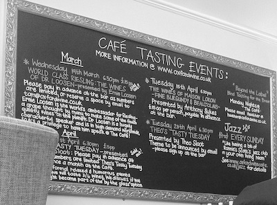 The Oxford Wine Cafe hosts a variety of tasting events each month… Always relaxed, informative and full of wines to get excited about.